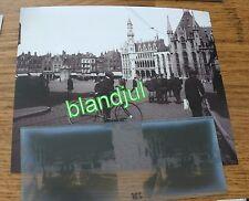 plaque verre + Photo bruges Belgique 1919  la grand place n2