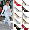 WOMENS LADIES STILETTO POINTED MID HIGH HEELS WEDDING PROM COURT SHOES SIZE