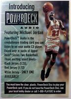 1998 98 Upper Deck Michael Jordan Introducing PowerDeck Audio Ad, Bulls, HOF