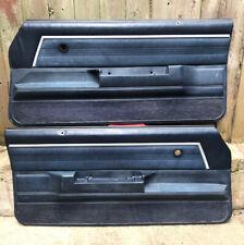 78-88 Chevy El Camino Malibu Monte Carlo & G-Body Left Right Door Panels Blue