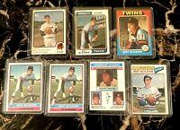 Topps Bert Blyleven (7) Card Lot Twins 1973 1974 1975 1976 Rangers 1977