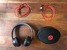 Beats By Dre Solo 3 Wireless On Ear Headphones Red Black