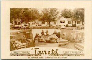 ASHEVILLE North Carolina RPPC Real Photo Postcard TOUR-O-TEL Multi-View Roadside