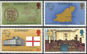 GUERNSEY 1974 UPU (4) Unhinged Mint SG 114-7