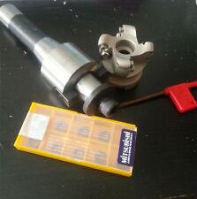 R8 FMB22 arbor + 5R50 face mill& 10pc Tungaloy insert