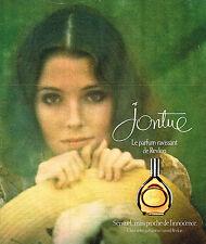 PUBLICITE ADVERTISING 045  1976  REVLON  parfum femme JONTUE