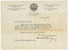 1927 Charles Thwing Typed Letter Signed