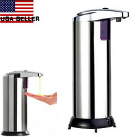 Stainless Steel HandFree Automatic IR Sensor Touchless Soap Liquid Dispenser EW