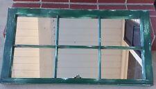 Architectural Salvage ~ 32x20 GREEN DISTRESSED RUSTIC WINDOW SASH W/ MIRRORS