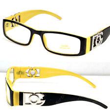 DG Clear Lenses Frames Glasses Fashion Nerdy Mens Eyewear Designer Yellow Unisex