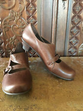 Fidji women's shoes, Mary Janes  ,brown leather , new , size 37.5/ 7