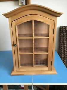 Wooden Spice Cupboard with Mesh Front