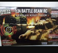 Forces Of Valor 1:24 German King Tiger RC Remote Control Tank Beam Technology UK