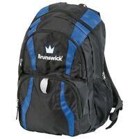 Brunswick Crown Bowling Ball Company Back Pack Color Black/Blue