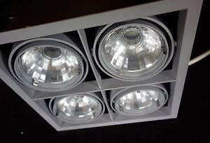 Illuma Framelight Ceiling Spot Light Recessed Downlight, 4 Tilt Adjust Spots