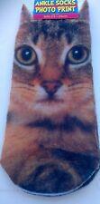 Cat socks,size 4-7,trainer,photo print,3 D,womens,summer,fashion