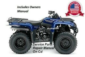 2000-2012 Yamaha BigBear YFM400 4x4 OEM Owners Manual/Service&Repair Manual CD