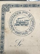 Chile 1892 Locomotive Service Card TS6 Pale Rose