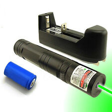 3in1 5mw 532nm Green Laser Pointer Pen Lazer Beam Light + 16340 Battery +Charger