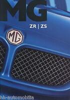 MG ZR ZS Prospekt 9/03 brochure 2003 Auto PKWs England Autoprospekt Broschüre
