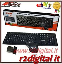KIT TECLADO RATÓN MK1318 WIRELESS 2,4 ghz MULTIMEDIA SLIM WIFI USB PC LASER