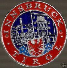 Innsbruck Tirol medallion stocknagel shield G2977 Red