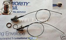 """2 12"""" Mini PCI U.FL / IPX to RP-TNC Antenna WiFi Pigtail Cable Connector USA"""