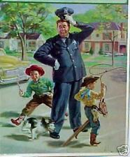 Kid Cowboys and Dog run around Policeman