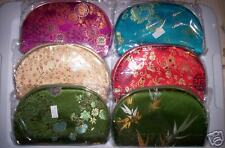 """(5 pc Set) SATIN Floral """"Nesting"""" Cosmetic Travel Bags"""