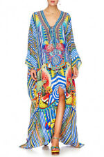 new CAMILLA FRANKS SILK CRYSTALS BOOK A SHADE SPLIT HEM LACE UP KAFTAN layby