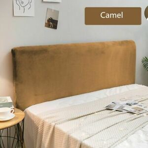 Velvet Plush Bed Headboard Cover Thicken Solid Color Anti Dust Protection Sheet
