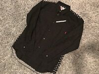 SUPREME X CDG COMME DES GARCONS MEDIUM BUTTON DOWN SHIRT SS14 POLKA DOT PINSTRI