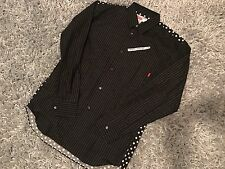 SUPREME CDG COMME DES GARCONS XLARGE BUTTON DOWN SHIRT SS14 POLKA DOT PINSTRIPE