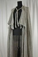 Zaharoff Women's Cape Sz Large Gray Wool Greece Formal Casual Boho Vintage Gala