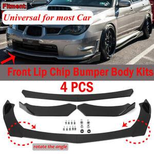 Universal Black Car Front Bumper Protector Guard Lip Body Spoiler Splitter Kit A