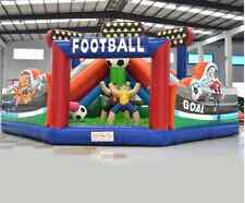 Football Soccer Inflatable Bounce Game Ball Slide Obstacle Course Commercial Wet