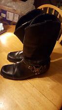 Bullhead Black Leather Harness American Eagle Men's Boots Riding Biker Size10?