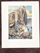 ALAN LEE Vintage PRINT 1976 Fantasy Art Lord Of The Rings Rare Lithograph Wizard