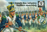 Waterloo 1815 1/72 AP061 Napoleonic French Line Infantry Fusiliers Marching 1815