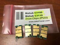 4 Drum Chip (BCMY) for Konica Minolta Bizhub C3100, C3110 (IUP-23, IUP23) Refill