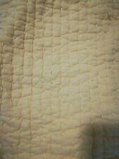 Pottery Barn Pillow Sham Quilted Pick stitch Yellow Standard Linen Cotton Blend