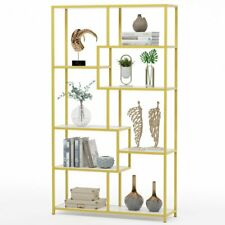 Tall Bookcase large Open Bookshelf Modern Display Storage Rack for Living Room