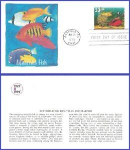 USA5 #3317 U/A FLEETWOOD FDC   Yellow Fish Red Fish Cleaner Shripm