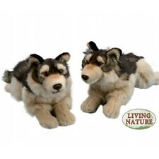Gran Lobo Suave Juguete Animal-Peluche Tumbado 35cm largo hechos De Peluche De Regalo