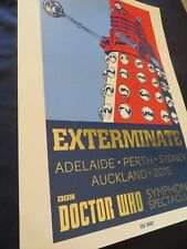 Dr Who Limited ed., Poster 2015 Symphonic Spectacular # 60 cm x 42 cm