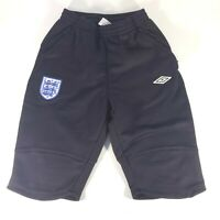Umbro England Soccer Knee 1/2 Pants / Shorts Mens Small Black Embroidered
