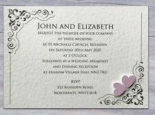 50 Wedding Invitations Evening Invites Personalised & Handmade *40 Colours*