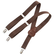 Children's Toddlers Kids Elastic Adjustable Suspenders Chocolate Brown Stylish