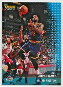 2016-17 PANINI INSTANT LEBRON JAMES ALL NBA 1ST TEAM  #422 BLUE PARALLEL 22/25