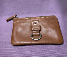Fossil Brown Leather ID Coin Purse Pouch And Keychain Wallet
